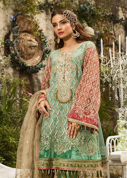 0326507c3e MARIA B MBROIDERED EID COLLECTION - 2019 - BD-1608