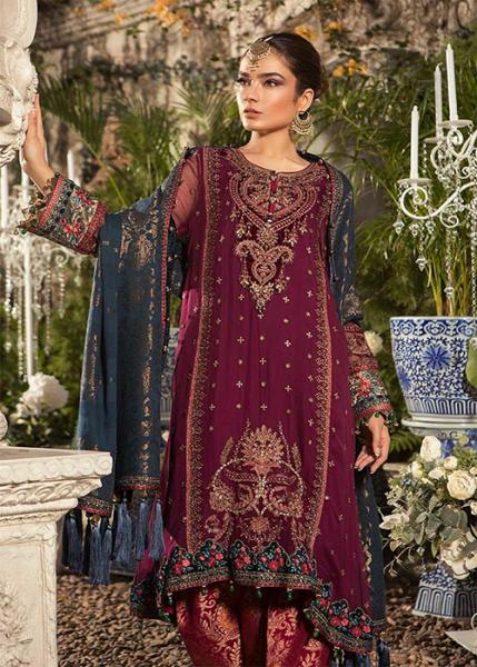 f53c5a1876 MARIA B MBROIDERED EID COLLECTION - 2019 - BD-1605