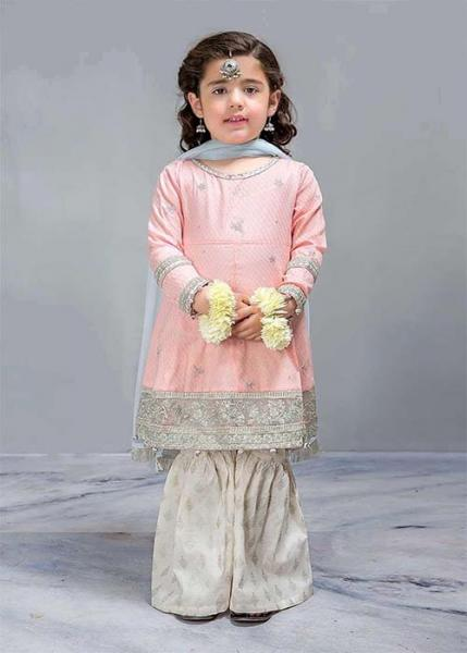 MARIA B Virasat Kids Pret Collection - 2019 - MKD-243-Pink