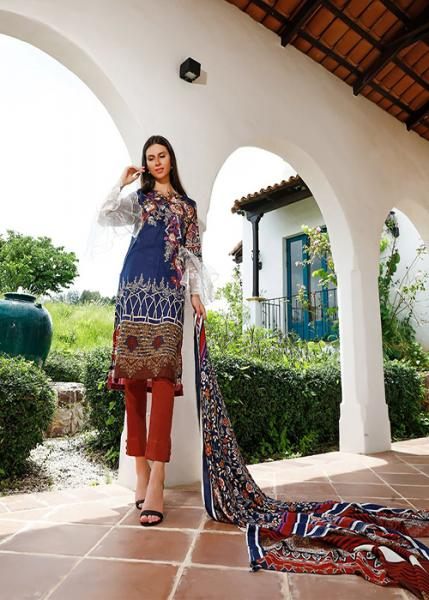 Ittehad Fall Winter Collection 2019 - DIVA BLUE