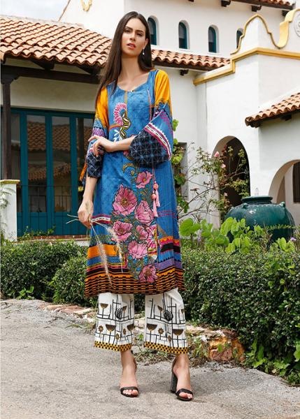 Ittehad Fall Winter Collection 2019 - VIVID BLUE