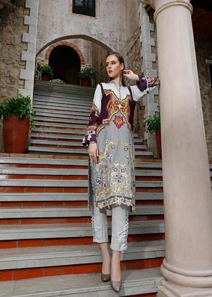 Ittehad Fall Winter Collection 2019 - SILVER CLOUD