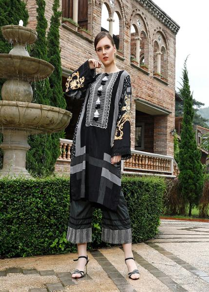 Ittehad Fall Winter Collection 2019 - BLACK GRAPHITE