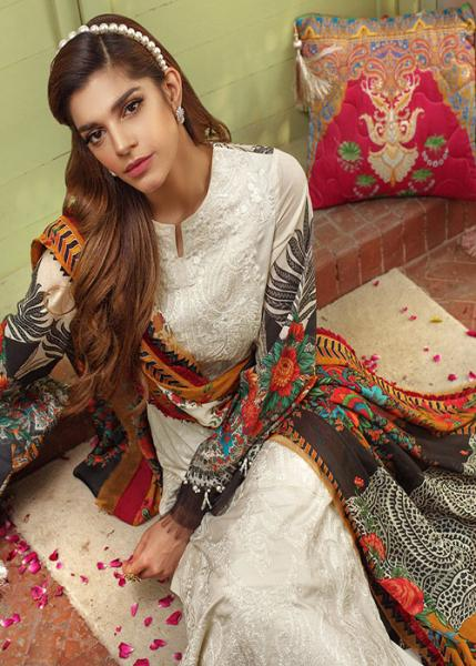 SAIRA RIZWAN Luxury lawn Collection By Ittehad - 2020 - Ria