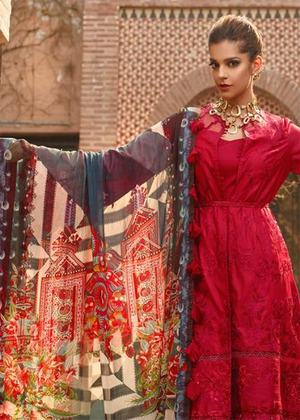 SAIRA RIZWAN Luxury lawn Collection By Ittehad - 2020 - Zimena