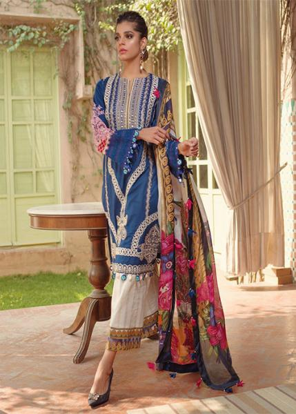 SAIRA RIZWAN Luxury lawn Collection By Ittehad - 2020 - Amalia