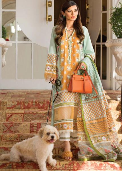Crimson Luxury Lawn by Saira Shakira Collection - 2021 - D-09A