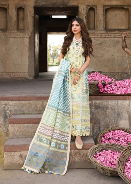 Crimson Luxury Lawn by Saira Shakira Collection - 2021 - D-09B